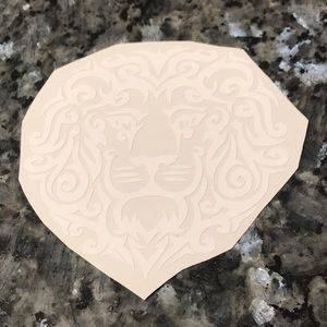 """Other - 4"""" white lion decal Phi Mu"""